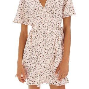 Topshop Daisy Ruffle Wrap Dress